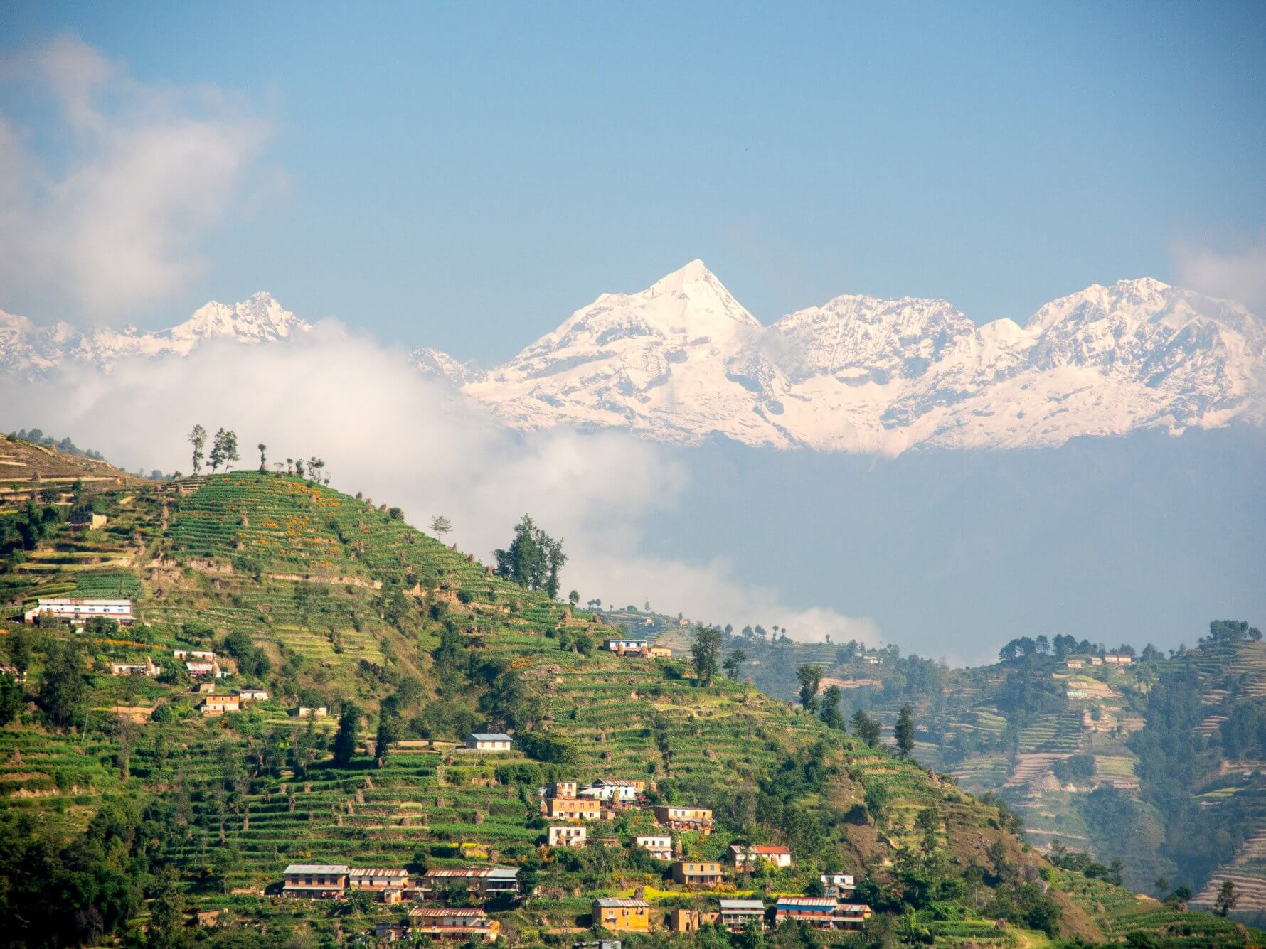 hiking around kathmandu